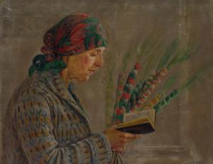 Eugenia Sienkiewicz-Przyałgowska (1891–1966). Moteris su verbomis. Fragmentas | Vytauto Kasiulio dailės muziejaus nuotr.