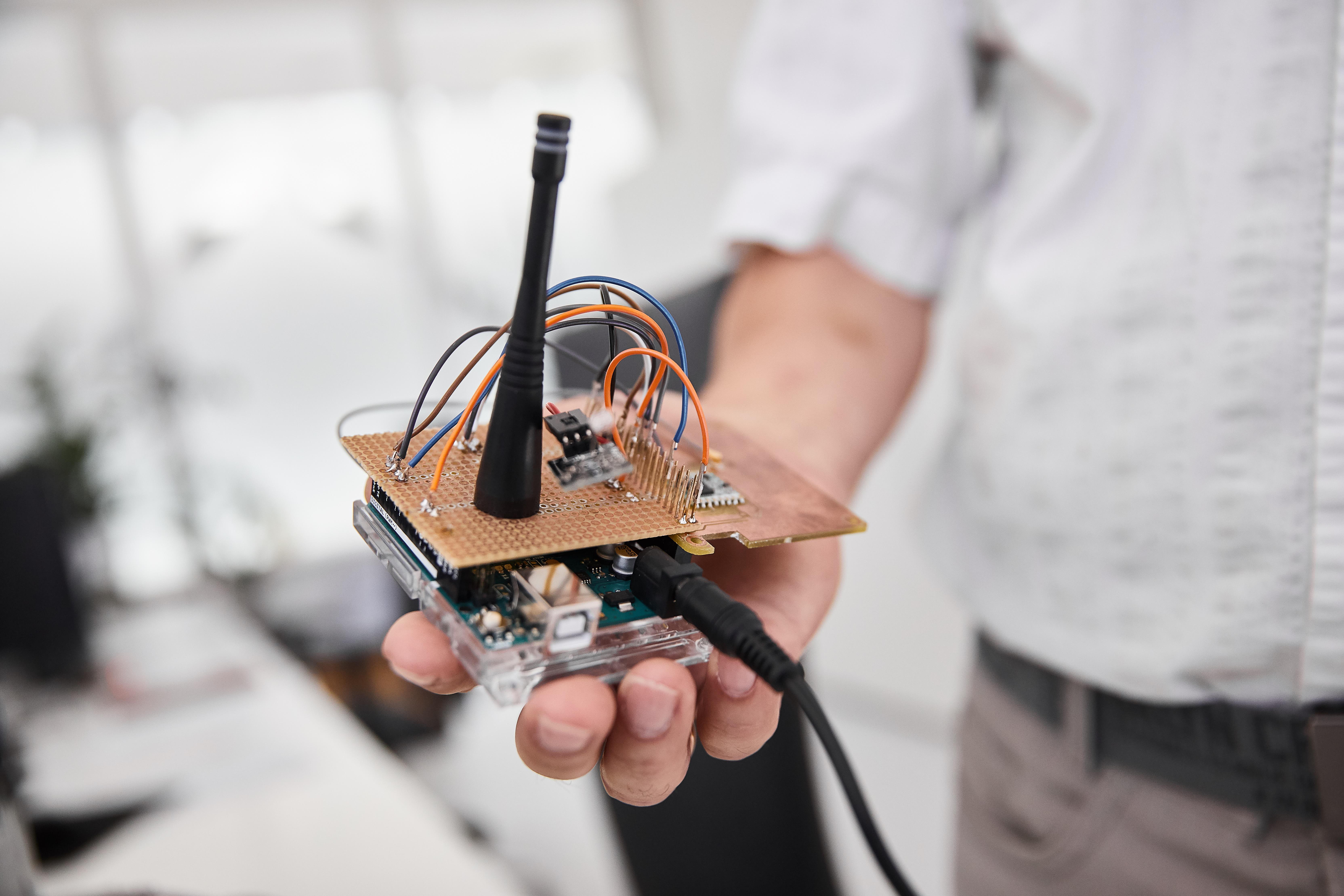 Sukurta technologija leidžia nustatyti tikslią žmonių ir daiktų buvimo vietą patalpose | KTU nuotr.