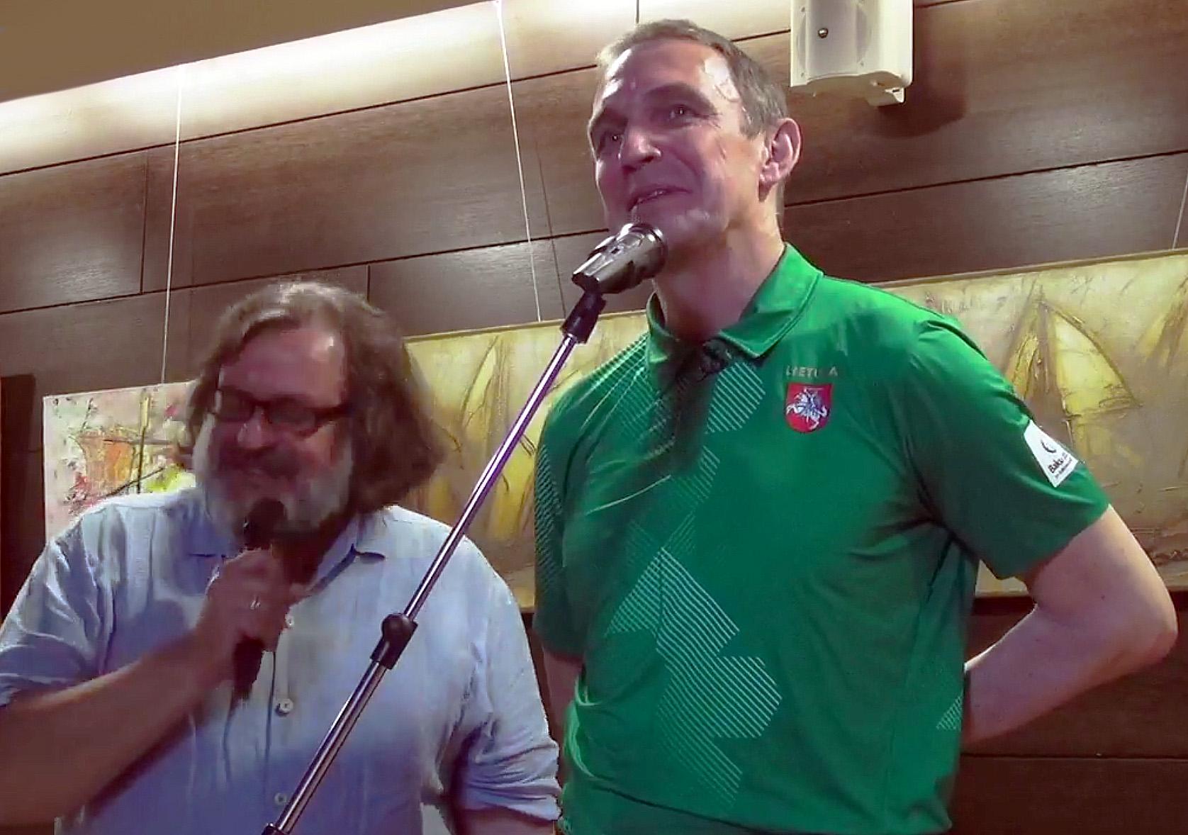 Sigutis Jačėnas ir Arvydas Juozaitis | stop kadras
