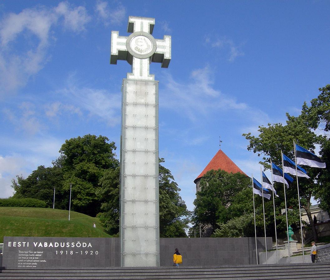 Estijos Nepriklausomybės monumentas Laisvės aikštėje Taline   B. Puzinavičiaus nuotr.