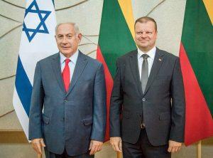 Saulius Skvernelis ir Izraelio premjeras Benjaminu Netanyahu   lrv.lt nuotr.