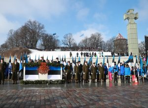 Estijos Nepriklausomybės šimtmečio iškilmių Laisvės aikštėje tribūna   B. Puzinavičiaus nuotr.
