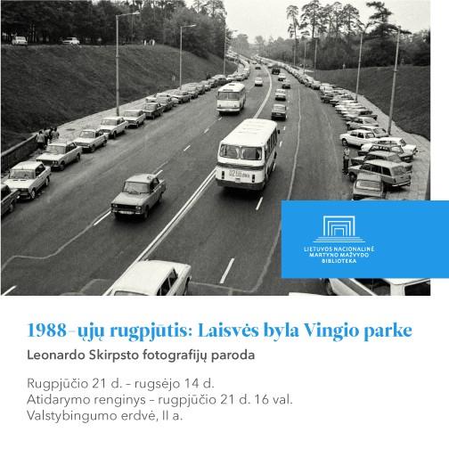 "Rugpjūčio 21 d. – rugsėjo 14 d.: fotografijų paroda ""1988-ųjų rugpjūtis: Laisvės byla Vingio parke""   lnb.lt nuotr."