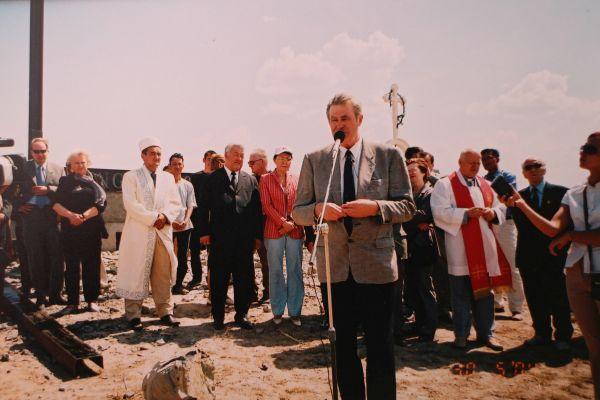 A. Seikalis sako kalbą Kazachstane | Asmeninio archyvo nuotr.