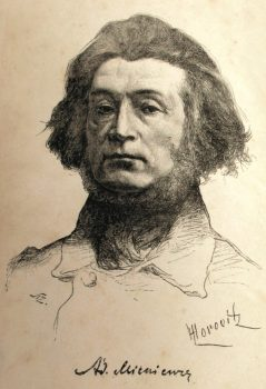 Adomas Mickevičius. Portretas 1888_ Leopold Horowitz. autorius