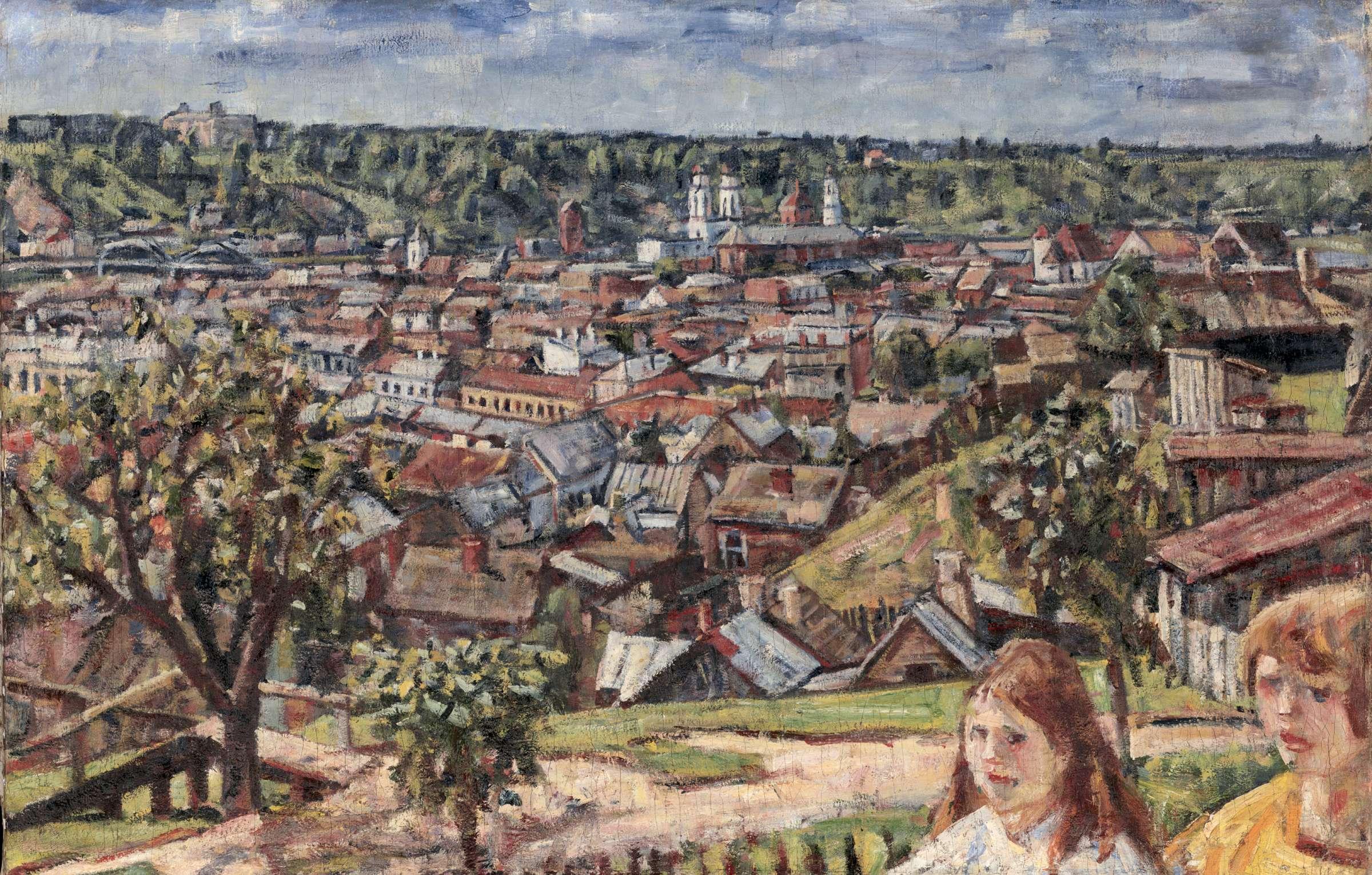 Vladas Eidukevičius. Kauno panorama. Vaizdas nuo Žaliakalnio. 1933 m., aliejus, tapyba | LDM nuotr.