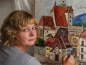 Ignalinietės savo tapybą pristatė Čekijoje | Ignalinos rajono savivaldybės nuotr.