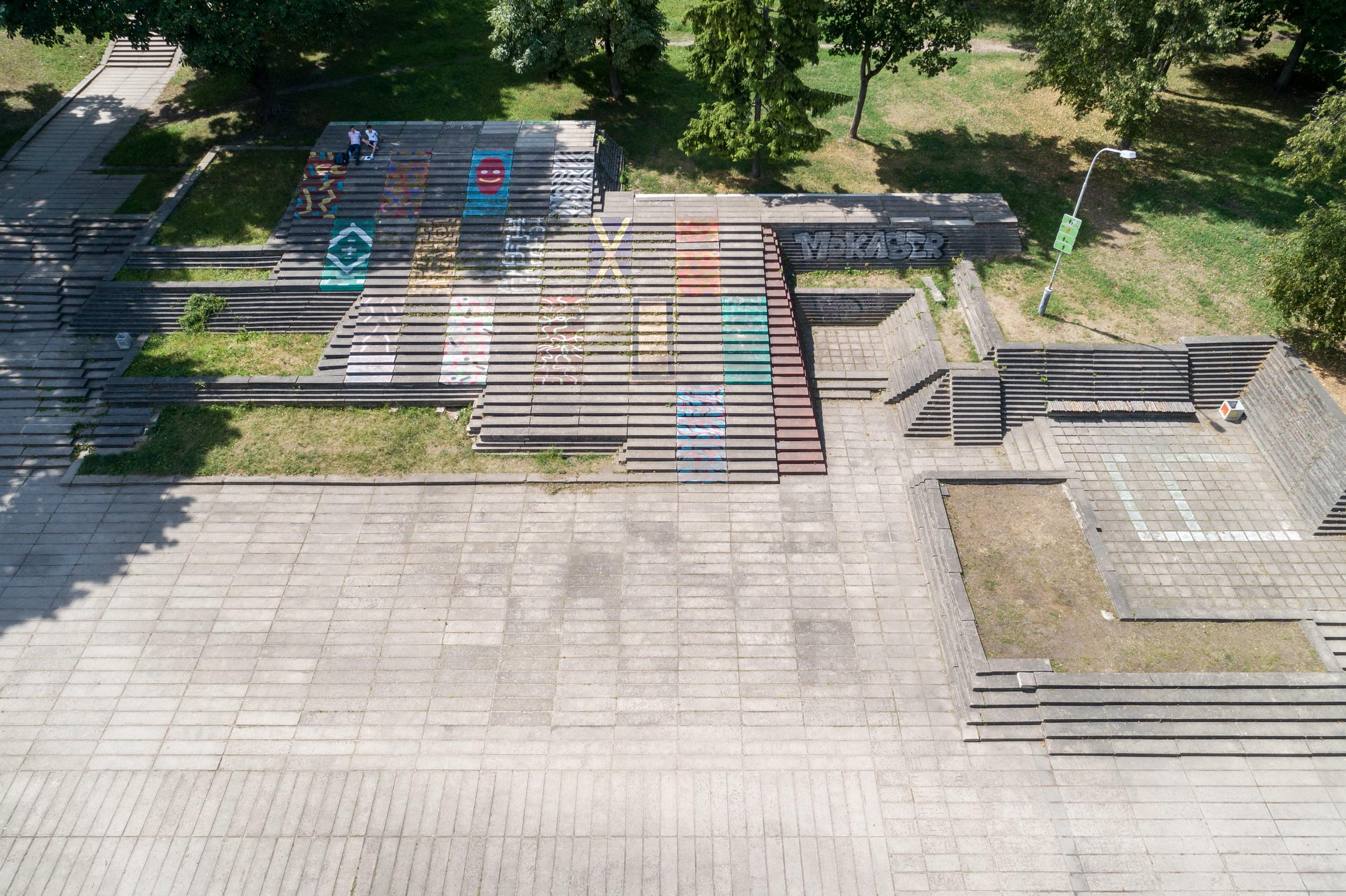 Betoniniai laiptai Reformatu sode, Vilniuje | Vilniaus m. savivaldybes-nuotr.
