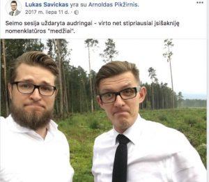 Lukas Savickas ir Arnoldas Pikžirnis | FB nuotr.