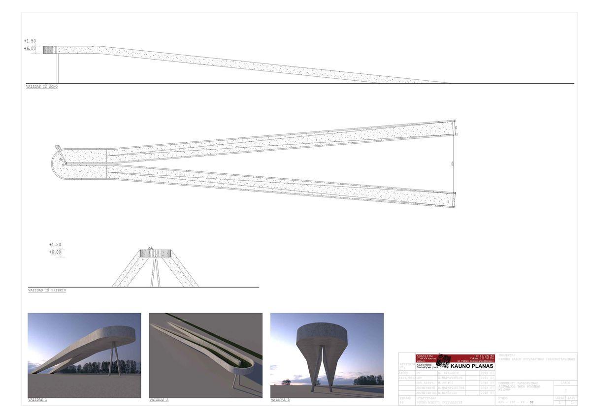 """Nemuno salos sutvarkymo projektas (PP), Kaunas. Projektuotojai: """"Kauno planas"""" ir architektas Gintautas Natkevičius."""