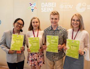 Tarptinės vokiečių kalbos olimpiados dalyviai Freiburge 2018 m. | Getės instituto Vilniuje nuotr.