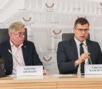Laurynas Kasčiūnas ir Audronius Ažubalis   lrs.lt, Dž. G. Barysaitės nuotr.