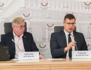 Laurynas Kasčiūnas ir Audronius Ažubalis | lrs.lt, Dž. G. Barysaitės nuotr.
