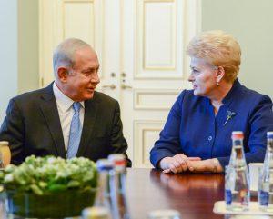 Benjaminas Netanjahu ir Dalia Grybauskaitė   lrp.lt nuotr.