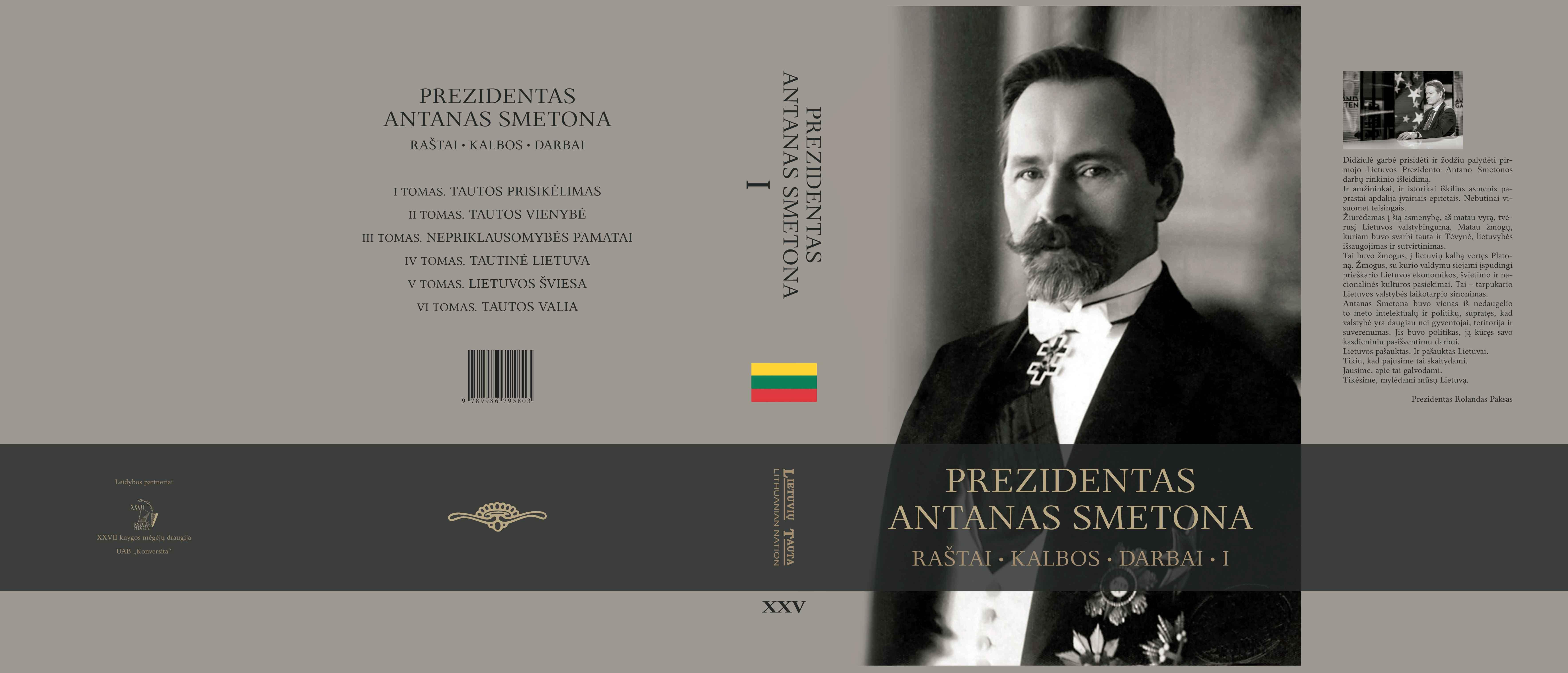 A. Liekio knygos apie A. Smetoną viršelis | Autoriaus nuotr.