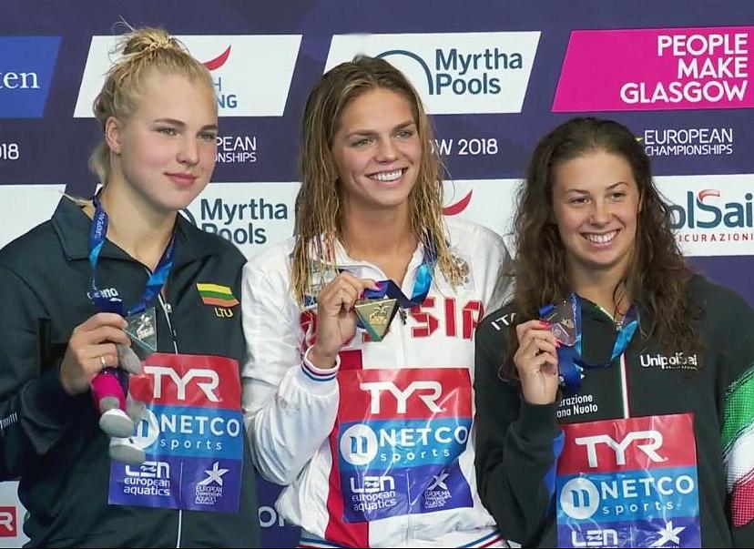 Europos čempionate R. Meilutytė iškovojo sidabro medalį | Alkas.lt, A. Vaišnoro nuotr.
