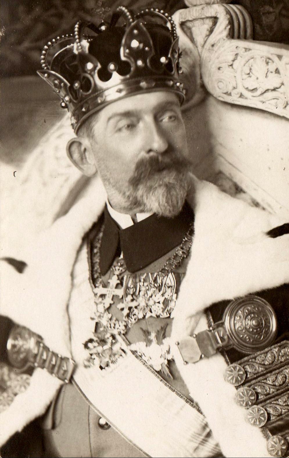 Regele Ferdinand cu Coroana de Otel. 1922 y. | Mažosios Lietuvos istorijos muziejaus nuotr.