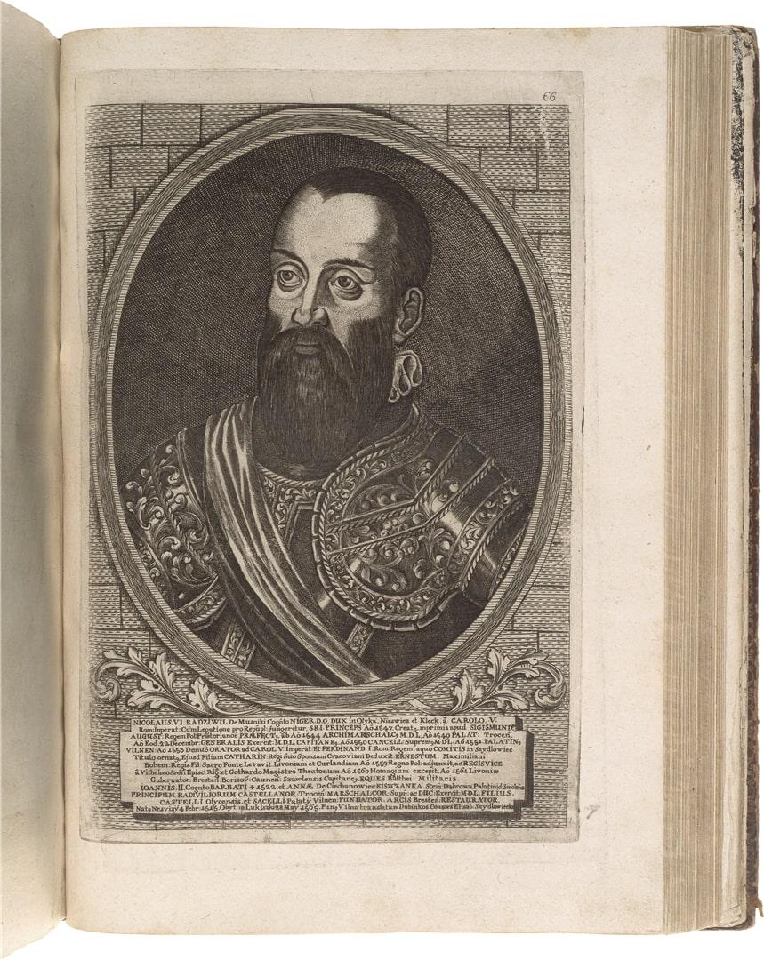 Puslapis iš knygos Kunigaikščių Radvilų šeimos atvaizdai. Iš J. Gumbio knygų kolekcijos | A. Lukšėno nuotr.