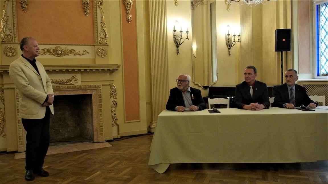 Arvydas Juozaitis Rygoje susitiko su Lietuvos ir Latvijos sandraugos rėmėjais | Alkas.lt, J. Vaiškūno nuotr.