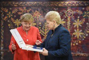 Vokietijos kanclerė Angela Merkel ir Lietuvos prezidentė Dalia Grybauskaitė | lrp.lt nuotr.