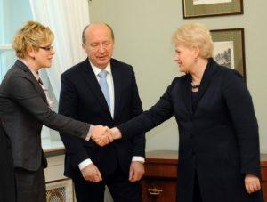 Dalia Grybauskaitė (dešinėje), Ingrida Šimonytė ir Andrius Kubilius | Stasio Žumbio nuotr.