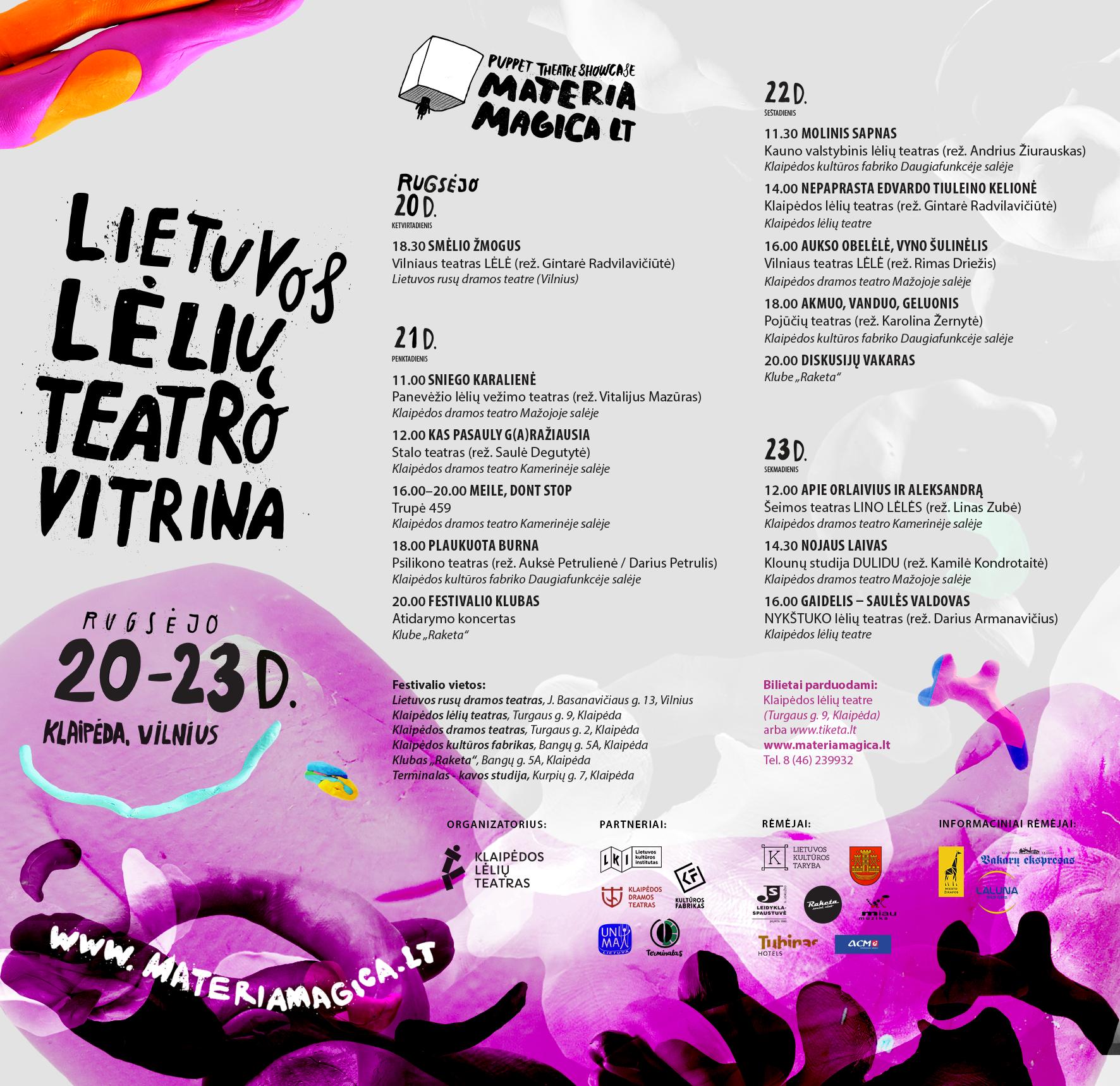 Materia Magica programa | Klaipėdos lėlių teatro nuotr.