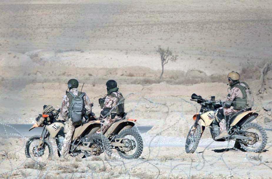 SOP eskadronų Aitvaras kariai ant savo motociklu KTM EXC‐R 530 | KAM nuotr.