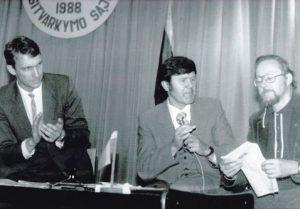 Trakų rajono sąjūdžio grupių Steigiamasis susirinkimas 1988 m. rugsėjo 14 d. -Z.Vilbranto nuotr
