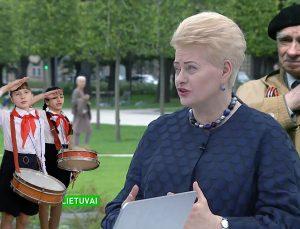 Prezidentė Lukiškių aikštėje | A. Vaišnoro koliažas.
