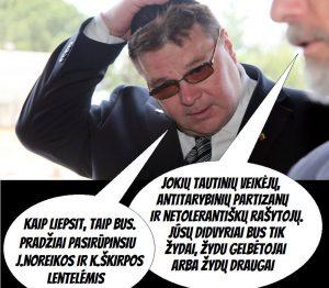 Misteris Sorriukas vėl pamiršo, kas jam postą davė ir algą moką? | Facebook.com nuotr.
