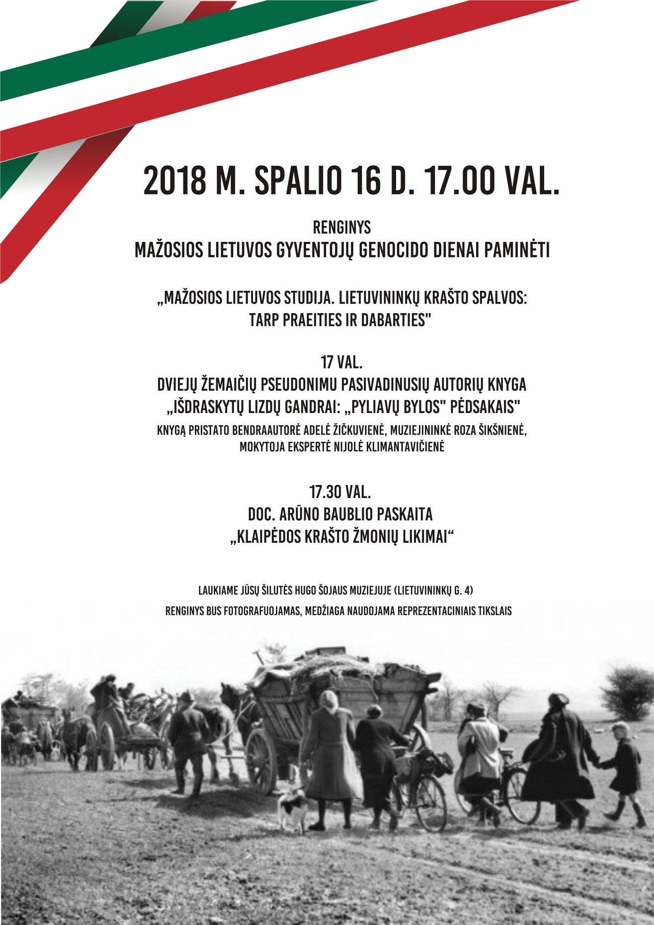 2018 10 16 Renginys Mažosios Lietuvos gyventojų genocido dienai paminėti