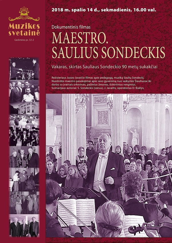 Maestro Saulius Sondeckis, plakatas | Rengėjų nuotr.