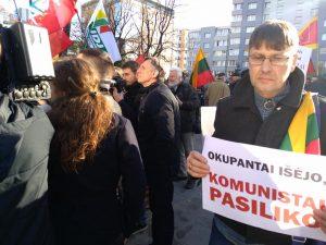 Mitingas prie LRT | Alkas.lt, T. Baranausko nuotr.