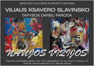 V. K. Slavinskas. Parodos plakatas.