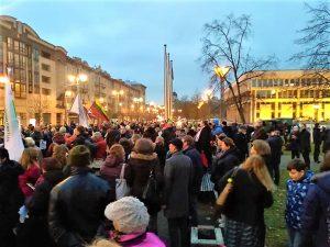 Mitingas prie Seimo: reikalaujama nutraukti valdžios vardu vykdomą smurtą prieš vaikus ir šeimas | Alkas.lt, T. Baranausko nuotr.