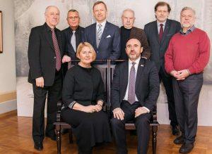Grupė Lietuvos kultūros ministrų Vilniuje, Signatarų namuose (2018-02-26) po kultūros deklaracijos aptarimo | Asmeninė nuotr.