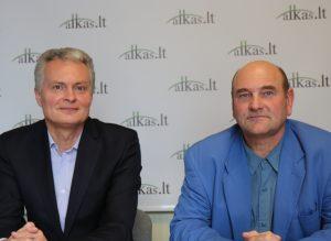 Gitanas Nausėda ir Gerimantas Statinis | Alkas.lt nuotr.