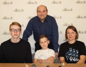 Ignas Vigelis, Martynas, Rima Malūnavičiai ir Gerimantas Statinis | Alkas.lt nuotr.