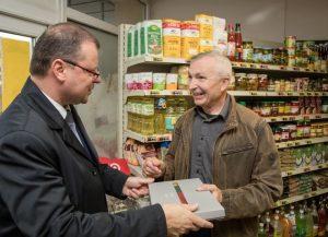 Marijampolietis V. Navikas priima svečią Ministrą pirmininką | lrv.lt nuotr.