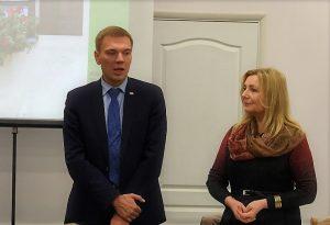 Seimo narys dr. Mindaugas Puidokas ir EKGT pirmininkė dr. Dalia Urbanavičienė | EKGT nuotr.