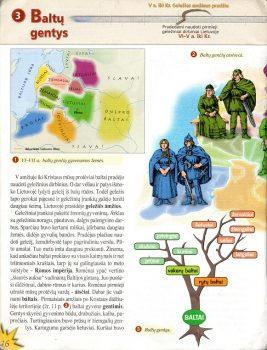 """Penktos klasės vadovėlis """"Kelias"""" apie baltų gentis  Alkas.lt, T. Baranausko nuotr."""
