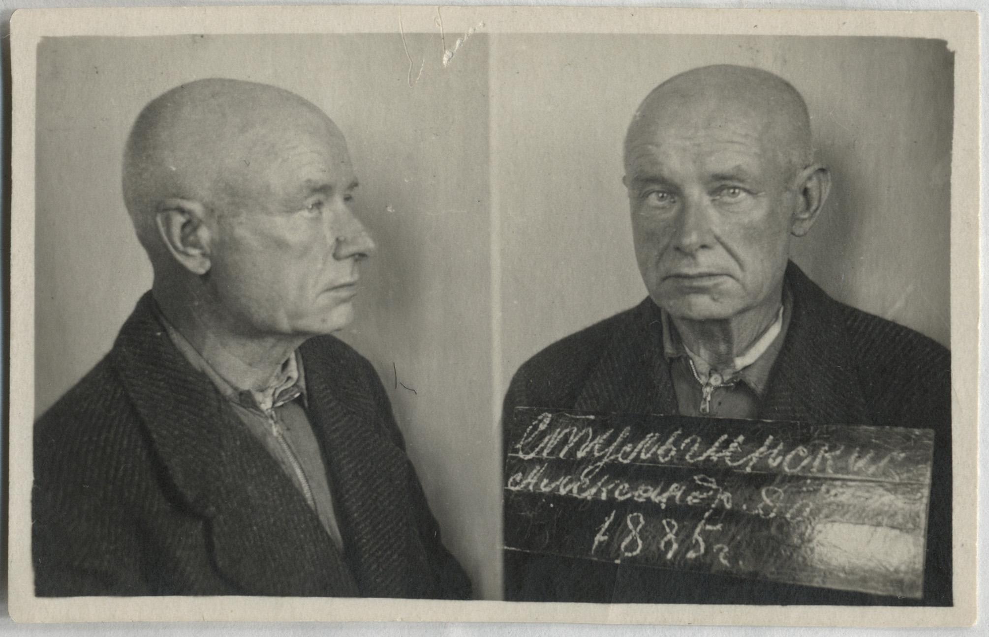Aleksandras Stulginskis Kansko kalėjime Krasnojarsko krašte | Lietuvos ypatingojo archyvo nuotr.