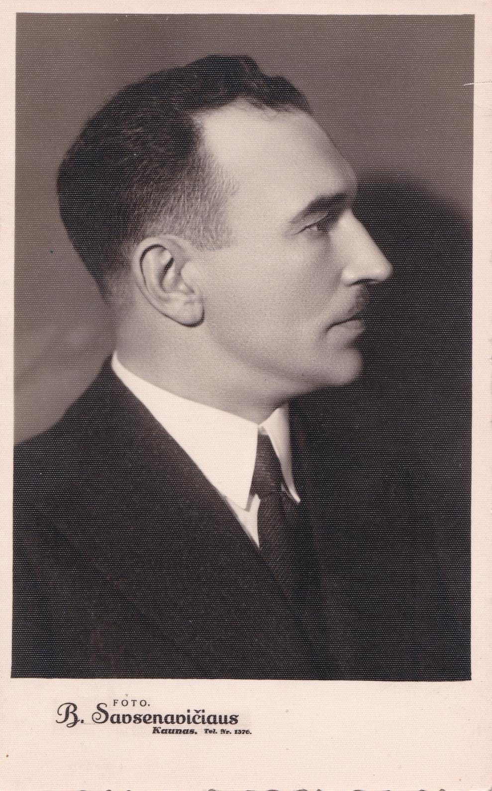 Kazimieras Skučas – Vidaus reikalų ministras. 1939 m. | V. Skučaitės archyvo nuotr.