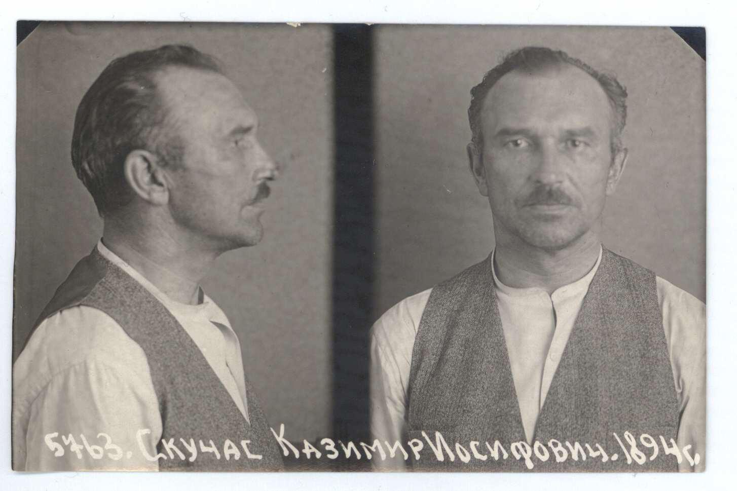 Kazimieras Skučas Liubiankos kalėjime Maskvoje. 1940 m. | Lietuvos ypatingojo archyvo nuotr.