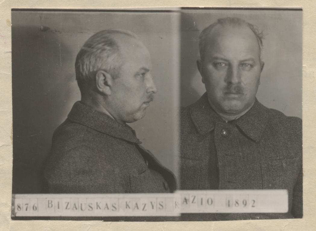 Kazys Bizauskas Kauno sunkiųjų darbų kalėjime. 1940 m. | Lietuvos ypatingojo archyvo nuotr.