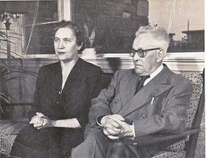 Krėvė su žmona Marija, JAV, 1952 m.   V. Krėvės memorialinio muziejaus nuotr.