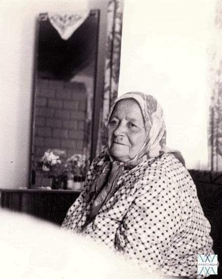 Marijona Bludnickienė iš Maciucių (Dieveniškių apyl.). | V. Vaitkevičiaus nuotr, 1996m.