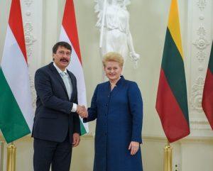 Vengrijos ir Lietuvos prezidentai | lrp.lt nuotr.