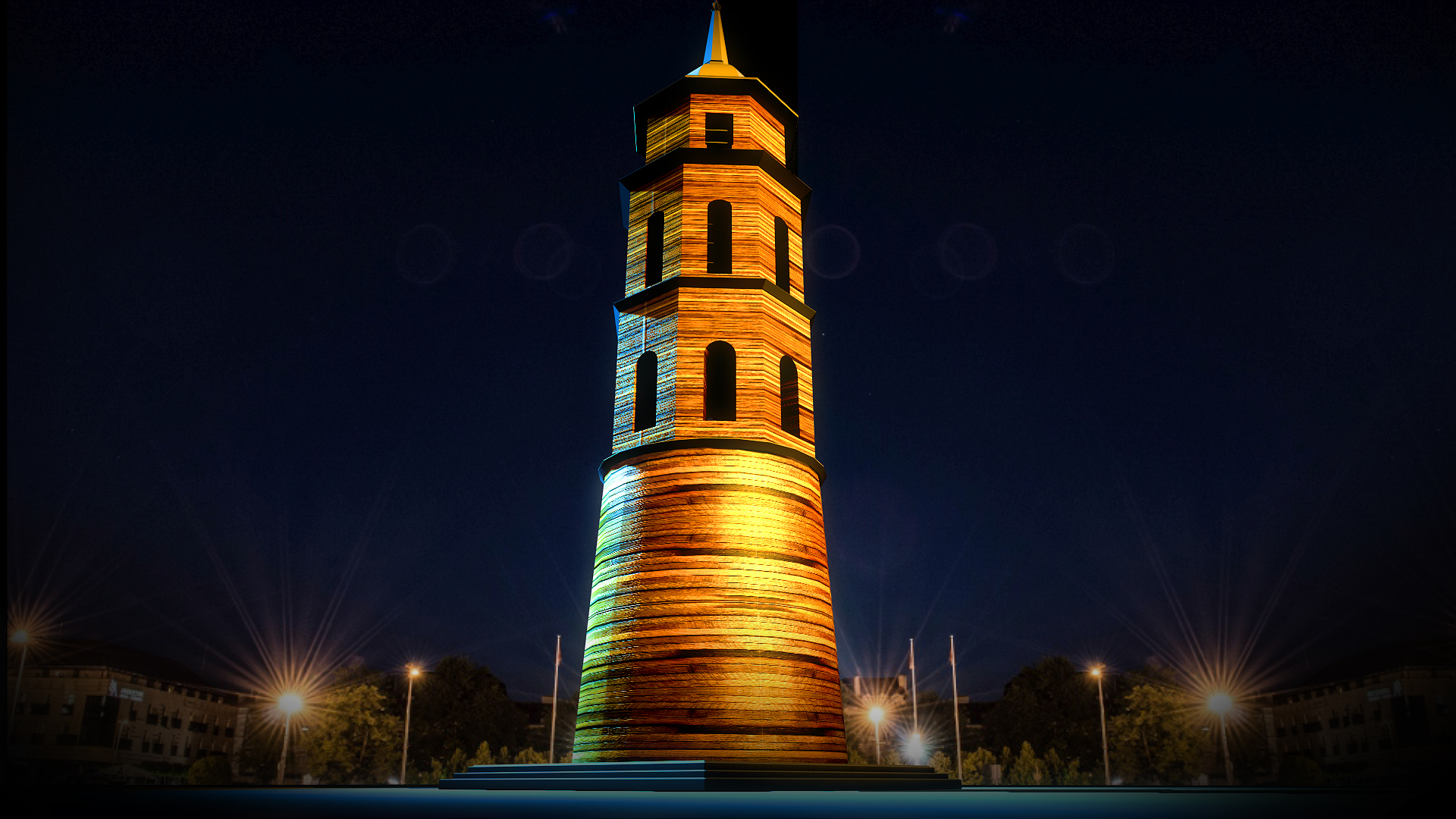 Vilnius kuria Naujųjų tradiciją – laukia įspūdingas 3D ant Katedros varpinės | vrt@vilnius.lt nuotr.