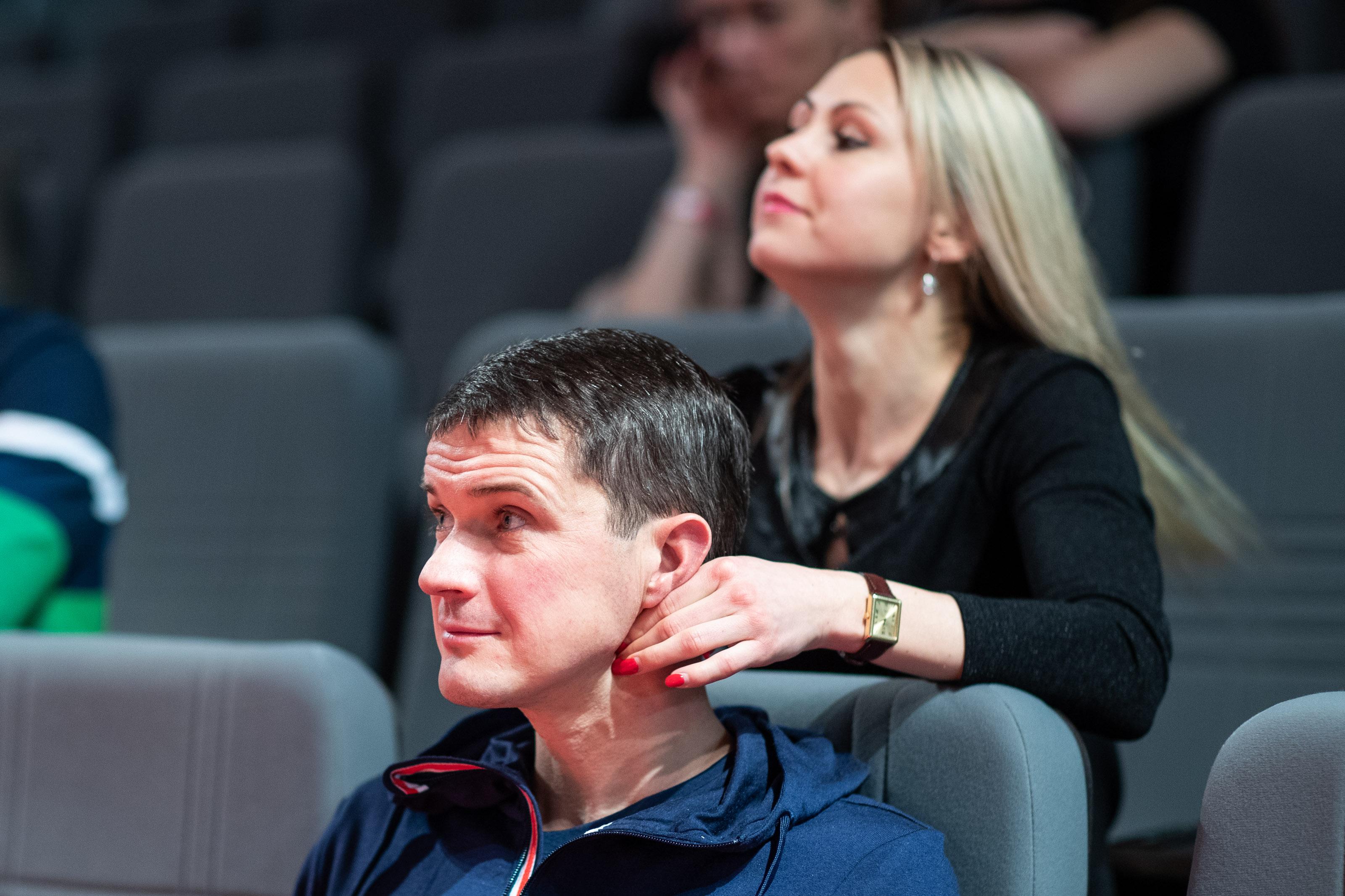 Po seminaro garsus medikas rado laiko ir olimpiečių terapijai   Rengėjų nuotr.